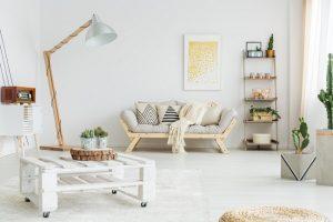 11. Palletten als DIY salontafel