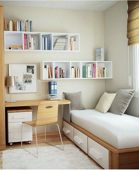 Voorkeur Kleine slaapkamer inrichten: 20 prachtige voorbeelden - Blogbox #VB16
