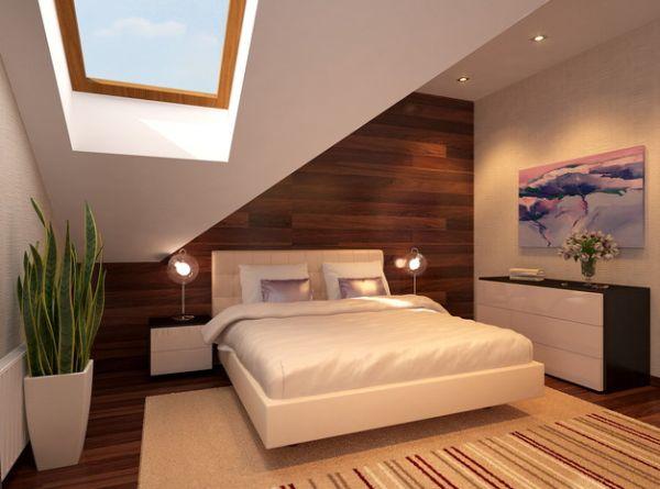 Strakke moderne slaapkamer