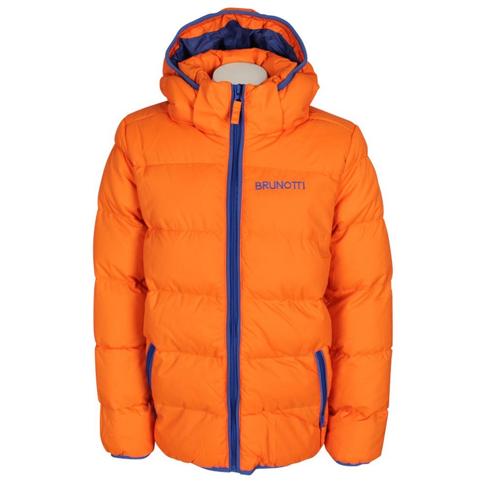 Oranje flitsende winterjas voor jongens