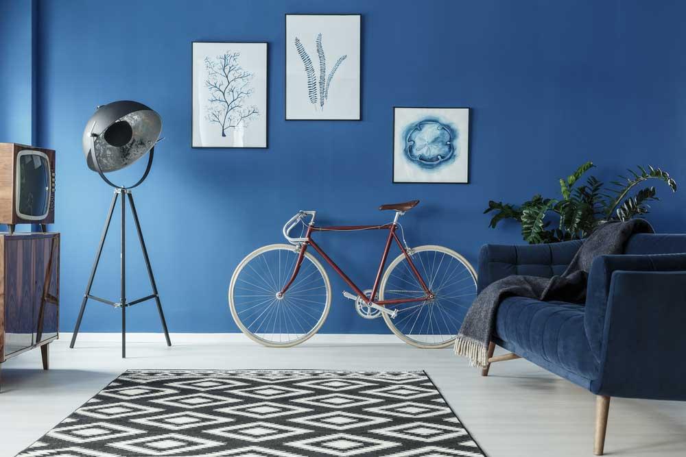 De blauwe muur in huis: uniek en opvallend