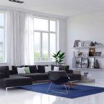 Het blauwe tapijt in huis: subtiel en rustgevend