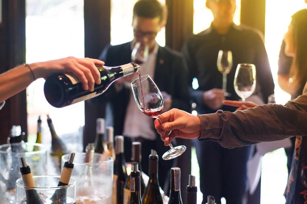 Wijnproeverij de volgorde